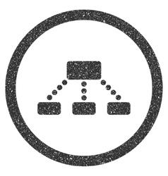 Hierarchy icon rubber stamp vector