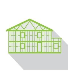 House green logo real estate design template vector