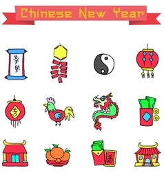Icon of Chinese element art vector image vector image