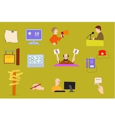 information facilities icon set vector image