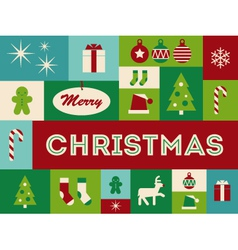 Merry christmas card vector