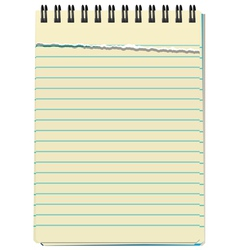 notepad vector image