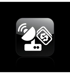 of single isolated antenna cost icon vector image vector image