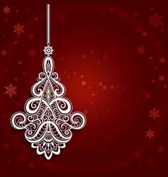 Ornamental christmas background vector