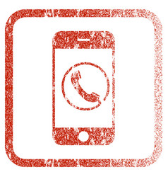 Phone framed textured icon vector