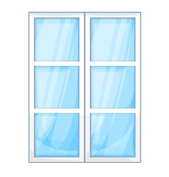 Plastic window outside vector image vector image