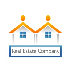 Real estate houses logo vector image