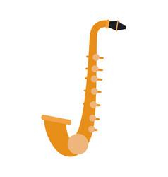 saxophone music instrument vector image vector image