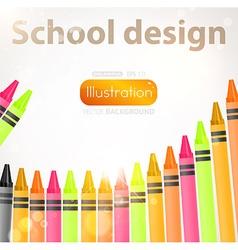 School design with crayon border vector