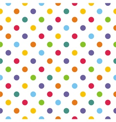 Seamless pattern texture with corolful polka dots vector image