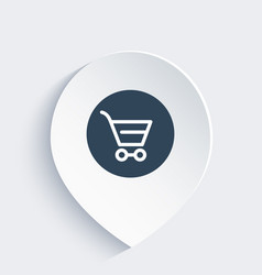 Shopping cart line icon on mark vector