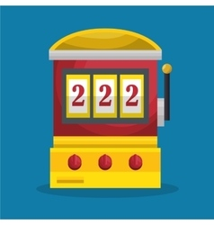 Slot machine casino icon vector