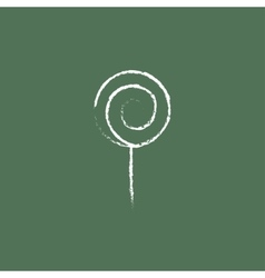 Spiral lollipop icon drawn in chalk vector image vector image