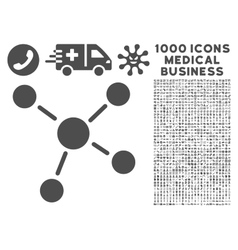Links icon with 1000 medical business pictograms vector