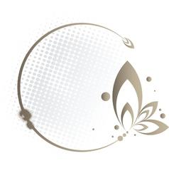 Brown Floral Frame vector image