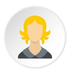 Woman with short hair avatar icon flat style vector