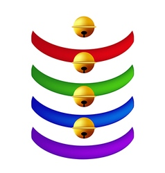 Pet collar with golden ball vector