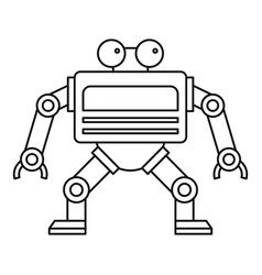 automation machine robot icon outline style vector image