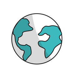 earth planet internet connection service vector image