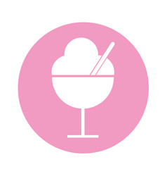 Ice cream cup isolated icon vector