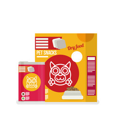 Icon of dog food set icon design for pet shop vector