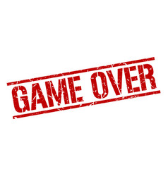 Game over stamp vector