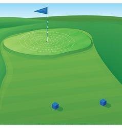 Golf Target vector image