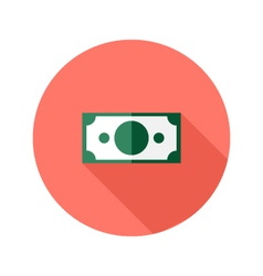 Money banknote circle flat icon vector