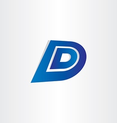 Blue letter d icon design vector