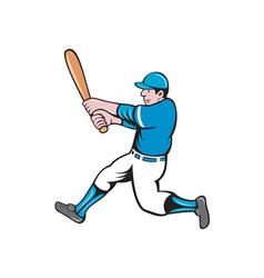 Baseball player batter swinging bat isolated vector