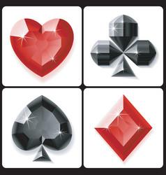jewel suits vector image