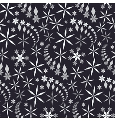 Seamless christmas pattern crystal white and gray vector