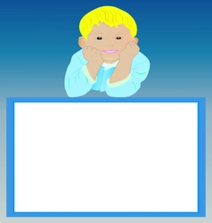 Blank frame with smiling boy vector
