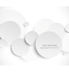 Abstract background with paper circles vector image