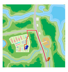 Abstract city suburban map vector