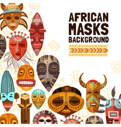 African ethnic tribal masks vector