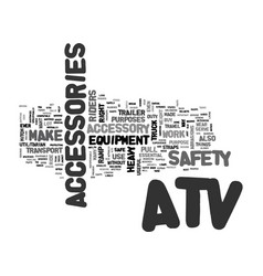 Atv accessories text word cloud concept vector