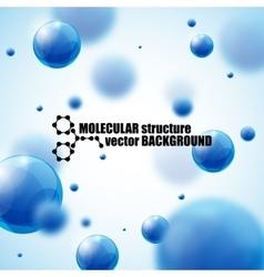 Beautiful molecule background vector