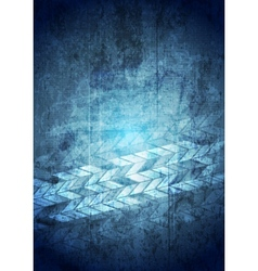 Blue grunge tech geometric background vector image vector image