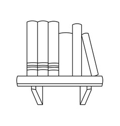 Books shelf literature learn encyclopedia image vector