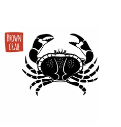 Brown Crab black and white vector image vector image