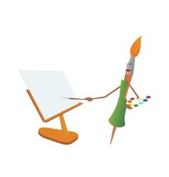 Brush-painter vector image