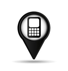 Calculator map pin icon vector