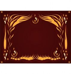 candles background vector image vector image