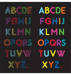Capital letters a to z vector