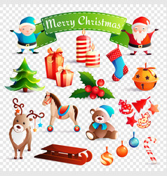 christmas cartoon set vector image vector image