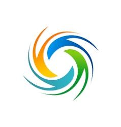Circle spin colorful logo vector