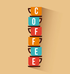 Coffee delicious symbol flat vector