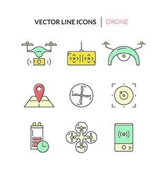 Drone icon collection vector