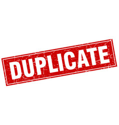 Duplicate square stamp vector